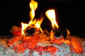 Feuer von Buchenholz